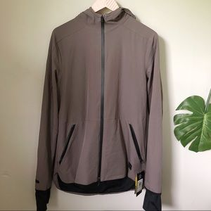 Under Armour Jacket Hooded Size M Brown Gray New